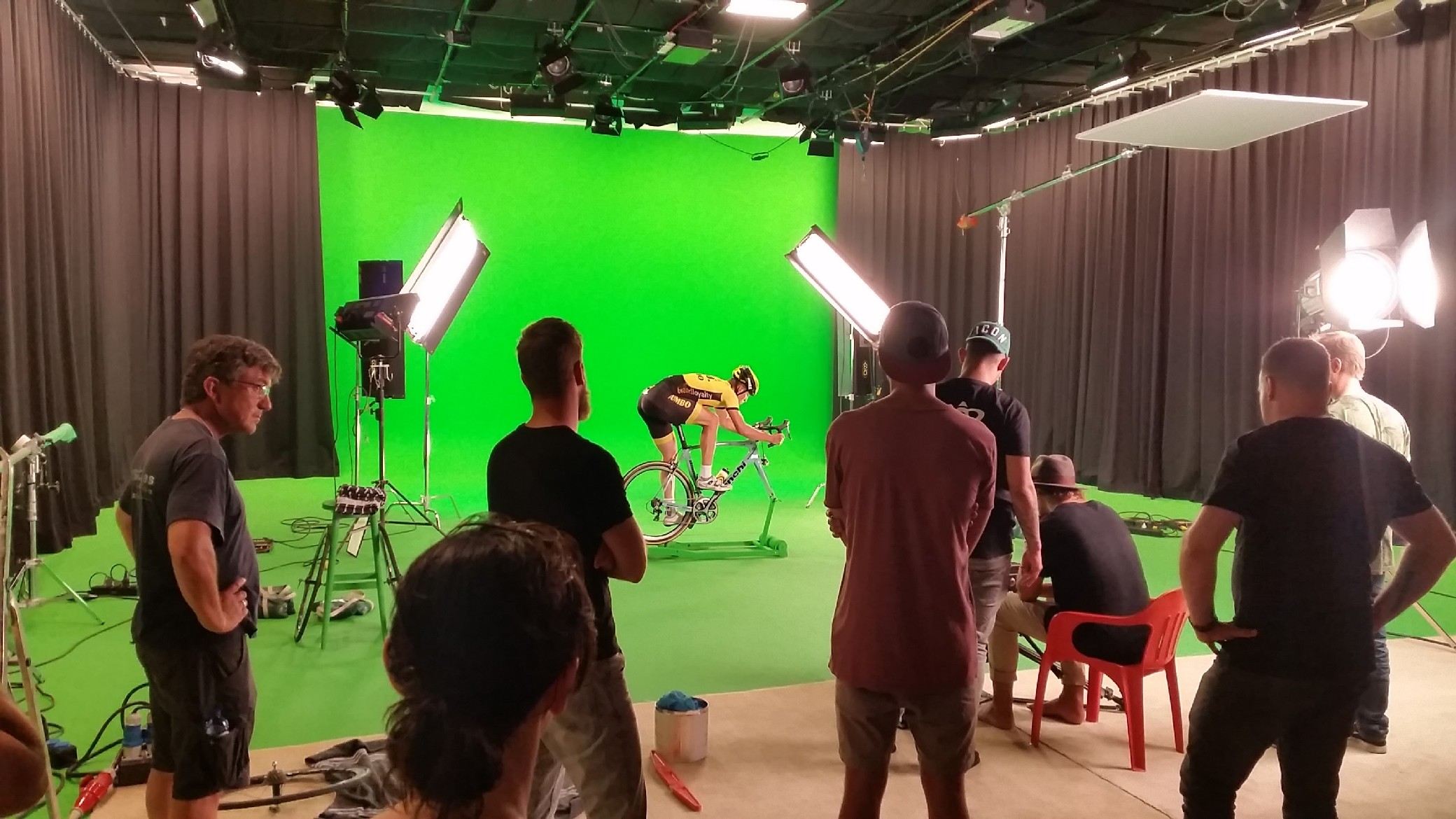 wielrenner greenscreen studio