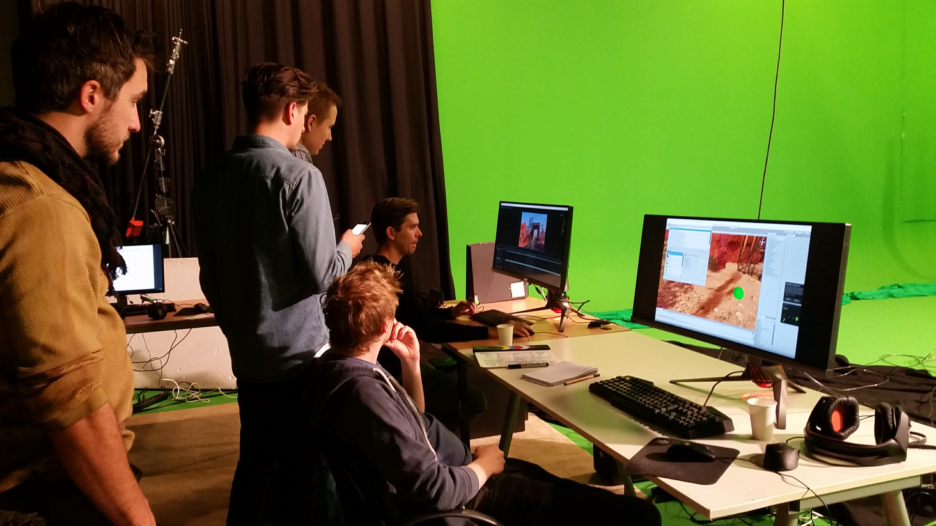 greenscreen studio postproduction