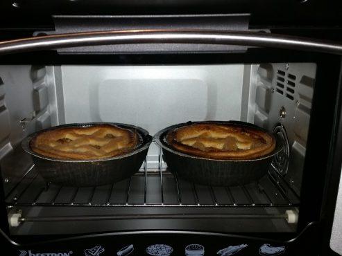 Haha appeltaartjes vers uit de oven voordat je aan je draaidag begint